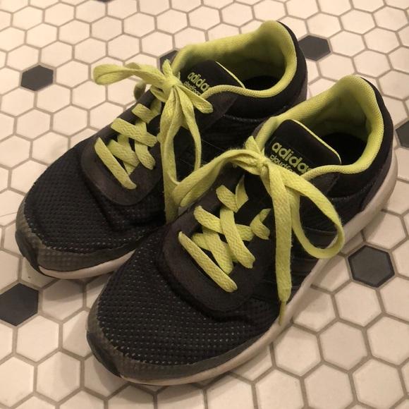 d9c976d74698 adidas Other - Boys Adidas Cloudfoam Race Sneakers Black Neon 1